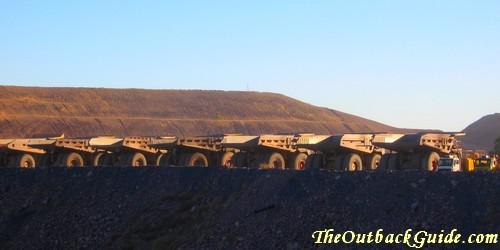 A popular mining job in Australia: driving dump trucks