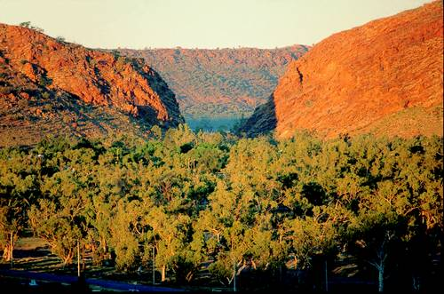 Heavitree Gap in Alice Springs