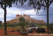 Camping at Chambers Pillar