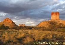 Chambers Pillar Historical Reserve near Alice Springs.