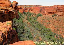 The third of the big three attractions: Kings Canyon