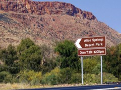 Sign to Alice Springs Desert Park