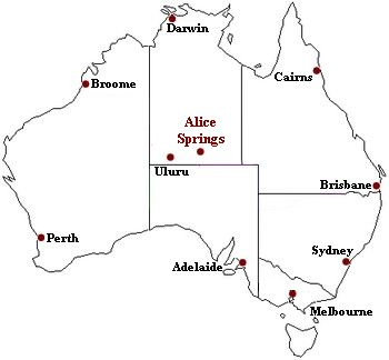 Alice Springs Map