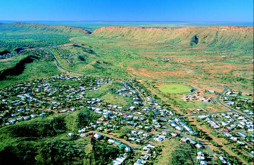 Aerial picture of Alice Springs