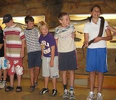 Children at the Reptile Centre...