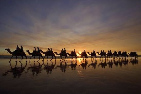 Camel Safari on Broome's Cable Beach, Australia