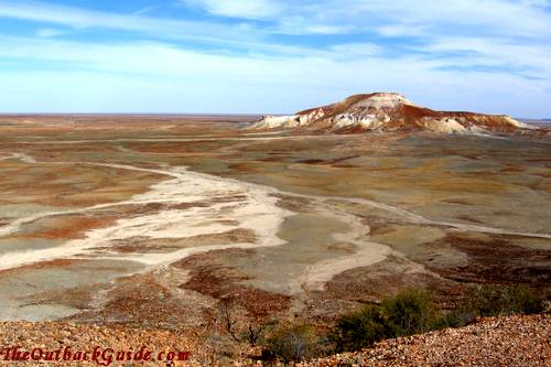 View from a lookout at the edge of the Painted Desert.