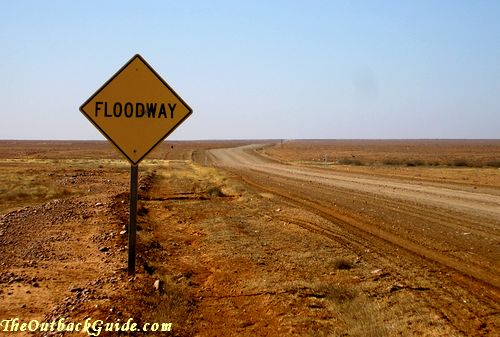 A floodway in the Australian desert.