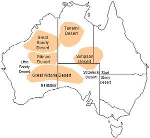 Australian Desert Map