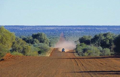 Driving across the Australian Outback