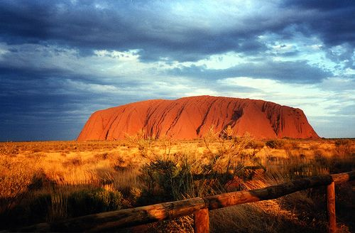 Uluru Sunset From The Bus Viewing Area