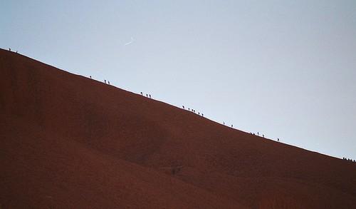 Climbers at Uluru