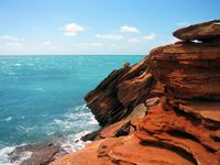 Ancient rocks near Broome contain dinosaur footprints, and offer many photographic opportunities.