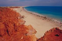 Beach north of Broome, Western Australia.