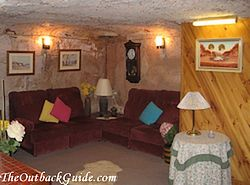 Faye's Underground Home: Living Room