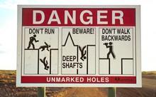 Warning Sign at Coober Pedy