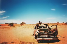 Lost in the desert.