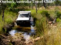 A rough and flooded track in the Australian Outback