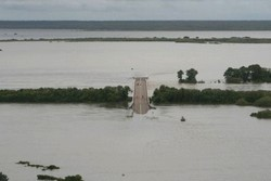 Flooded highway in Kakadu