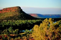 View over Victoria River escarpment in Gregory National Park