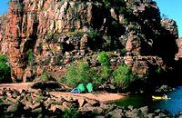 The little beach campsite at Smitt's Rock.