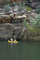 Canoeing in the first parts of the Katherine Gorge