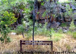 Signage on Katherine Gorge National Park walk.