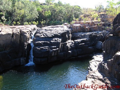 A waterfall further up the gorge