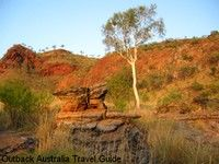 The intensely coloured sandstone formations at Kununurra's City of Ruins.