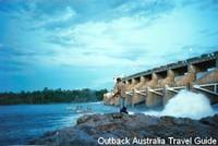 Fishing below Kununurra Diversion Dam