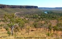 Spectacular view of the Victoria River Escarpment on the drive from Katherine to Kununurra