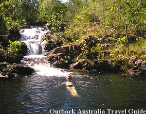 Enjoying a morning swim at Litchfield National Park