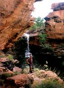 During the wet season you can find many waterfalls along Lily Creek in Mirima National Park.