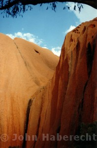 View towards Kantju, an important spiritual site at Uluru