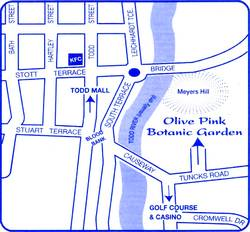 Olive Pink Botanic Garden Map