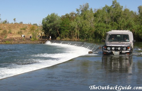 River crossing in northern Australia