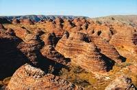 Aerial view of the Bungle Bungles or Purnululu