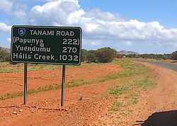 Start of the Tanami Track