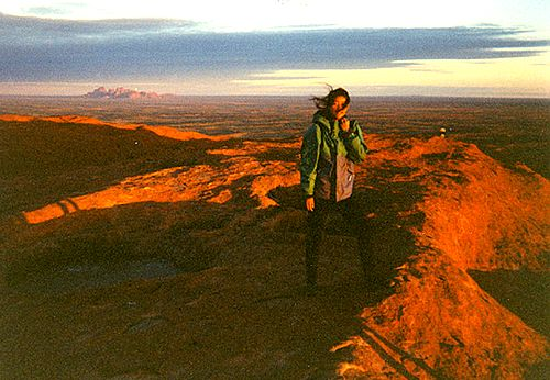 On top of Uluru in Australia