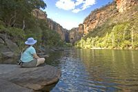 Jim Jim Falls Gorge, one of the tourist attractions in Australia's Kakadu National Park