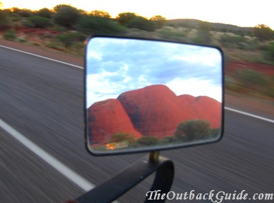 Road between Uluru and the Olgas