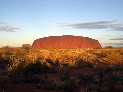 romantic uluru sunset...