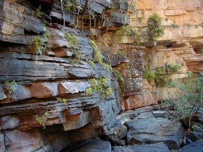 Rock face at Umbrawarra Gorge