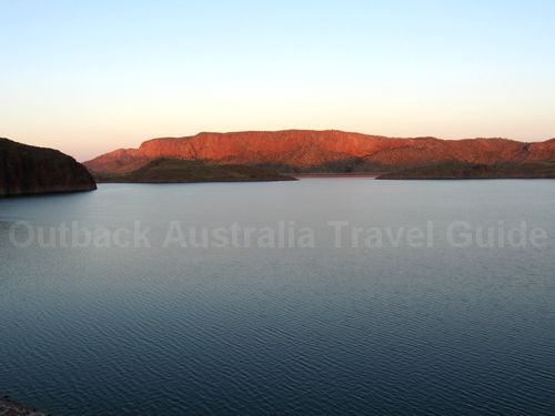 Sunset over Lake Argyle