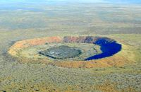 The Wolfe Creek meteorite crater.