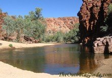 Trephina Gorge in the East MacDonnell Ranges - Alice Springs.
