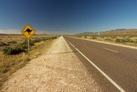 Endless road in the Australian Outback