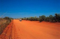Track in the Australian Outback desert