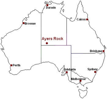 Ayers Rock Map