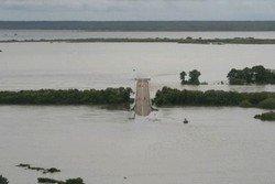 Flooded highway in Kakadu